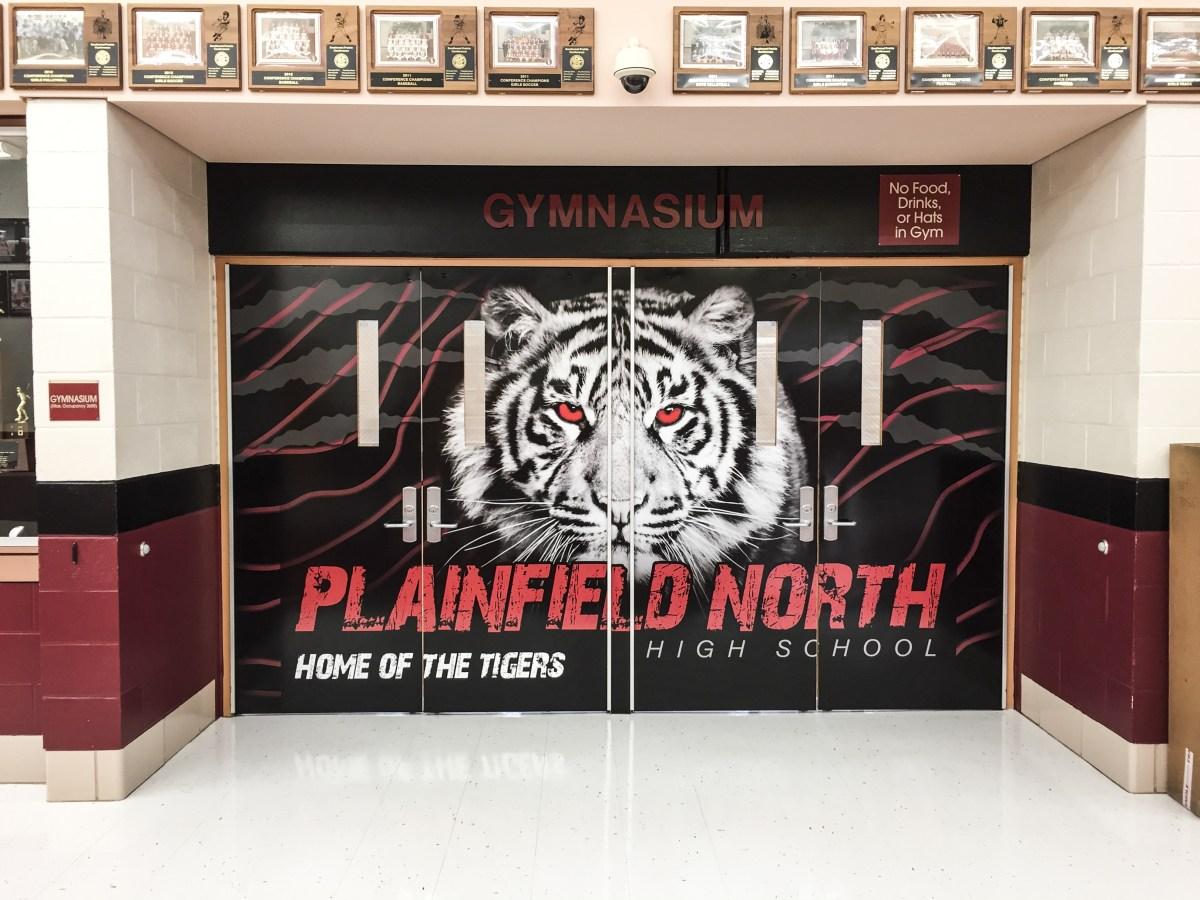 Plainfield North High School Quad Door vinyl wrap