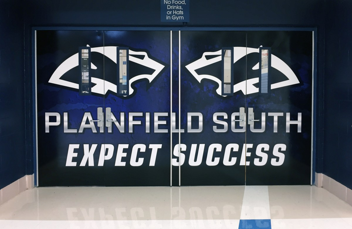 Plainfield South quad doors wrap