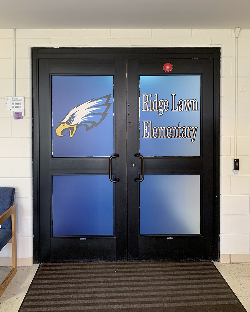 Ridge Lawn Elementary wrapped doors