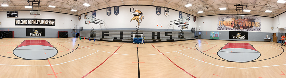 Finley Junior High Gym graphics