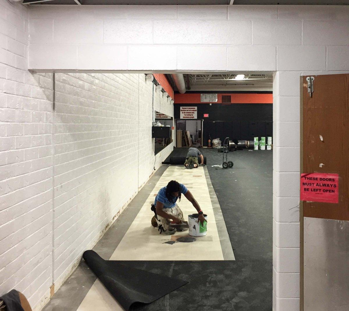 Grafton Fitness Center before installation