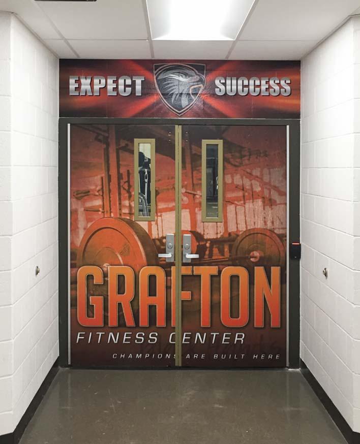 Grafton Fitness Center Door Wraps