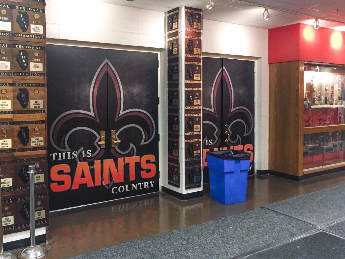 St. Charles East Double door vinyl graphics