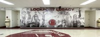 Lockport Athletic Hallway Wall