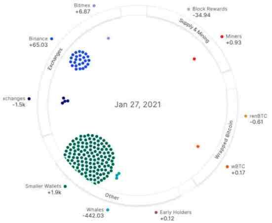 Kriptorinkų apžvalga 2021-01-28. Banginiai patys užmetė bitcoin tinklus
