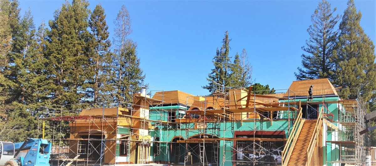 20,000 sq ft custom home in Atherton California. Geothermal installation