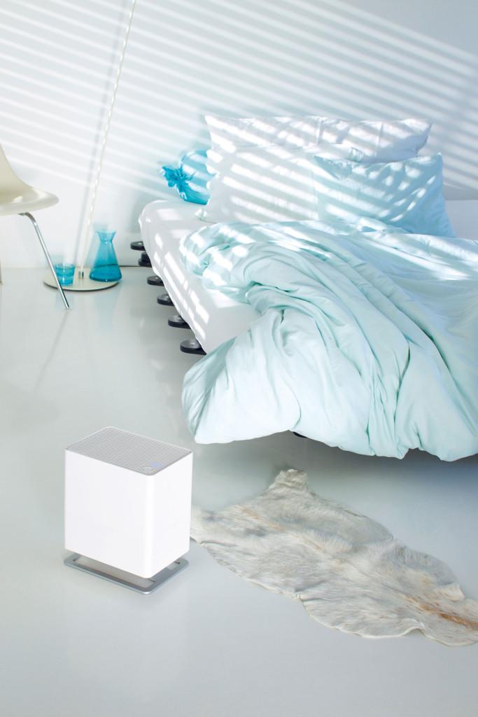 Oskar-little-humidificateur-air-evaporation-naturelle-design-lime-chambre-adulte