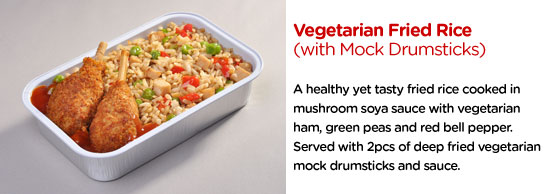 Vegetarian Fried Rice (With Mock Drumsticks)