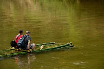 Ankavana Lodge - bamboo raft