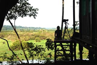 Akaka Bush Camp - viewing platform
