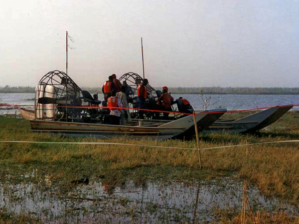 Nigeria - Air Boat Drilling Operations