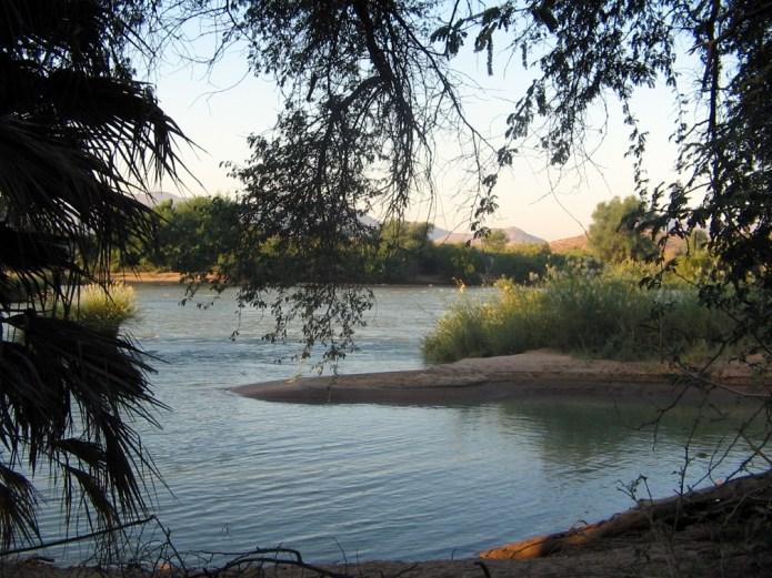 Angola - Kunene River near Oryeheke