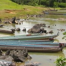airboat rescue in French Guiana