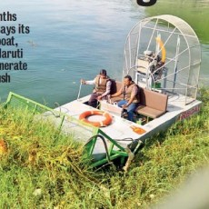 Airboat good to go on Lake-Cleaning Missions