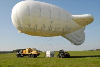 bedded parachute training balloon