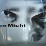 Michis Portrait auf Helm