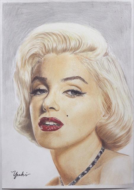 色鉛筆画『マリリンモンロー』