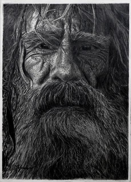 鉛筆画『お爺さん』