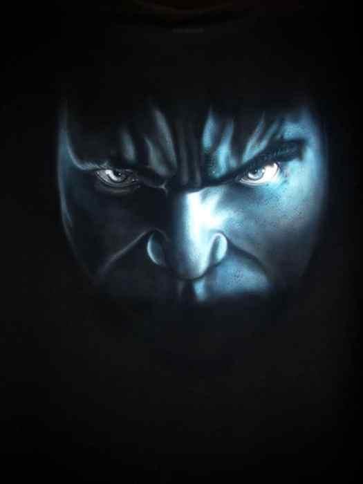 Hulk airbrush final - How to Airbrush Black T Shirt (Hulk)