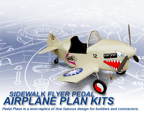 Wooden Pedal Airplane Plans