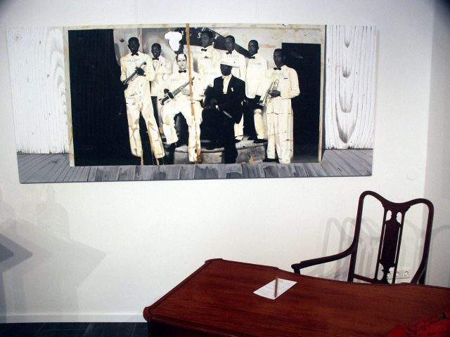 aircube project 1 - COLLECTION WUENSCH -  ORESTES CAMPOS SUBERT, Jazzband, Conjunto Orchestral Wilson, 1937, Acryl/Tela, 120x240cm, 2005