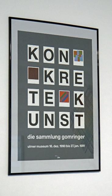 die sammlung gomringer - ulmer museum, 1990/1991 - poster 70x50cm