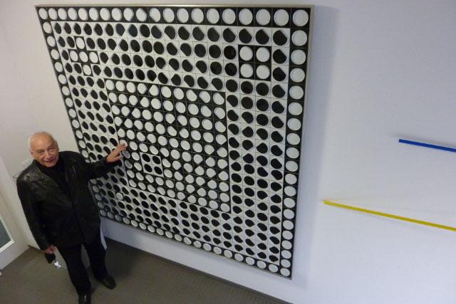 IKKP Rehau - eugen gomringer - victor vasarely - rosenthal art studio - 200x200cm