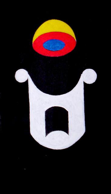 ROGELIO GONZALEZ HARTMANN - SUPERUNIVERSO - acrilico/lienzo - 93x47cm - 2004