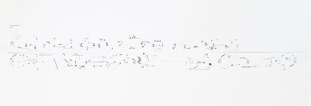 STEFAN GOMRINGER - computergrafik/papier - 1/1 - 42x172cm - 2015