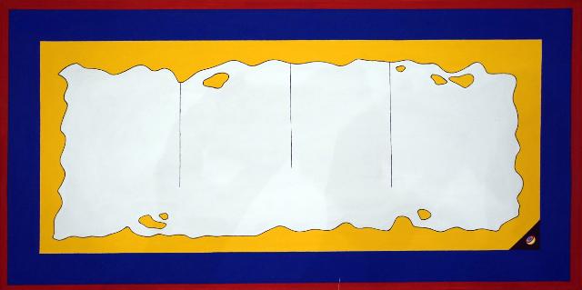 ROGELIO GONZALEZ HARTMANN - SUPERUNIVERSO - CIUDAD SANCTA - acrilico/lienzo - 47x93cm - 2015