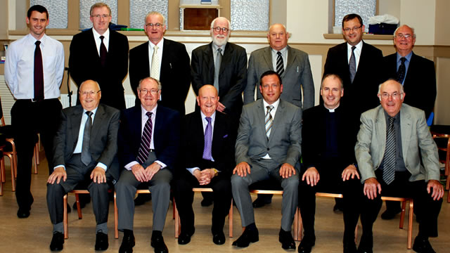 Presbytery at Donnie Mackinnon's ordination