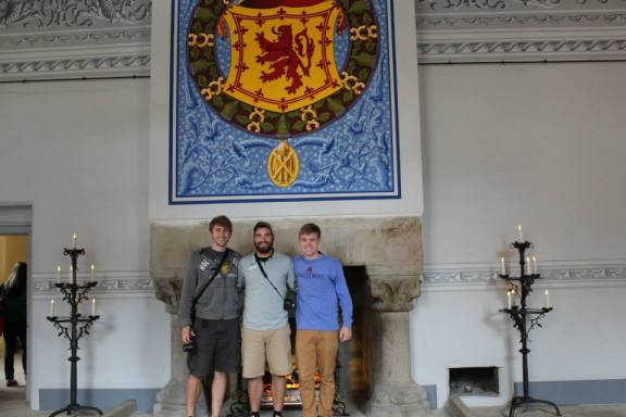 Boys in Great Hall at Stirling