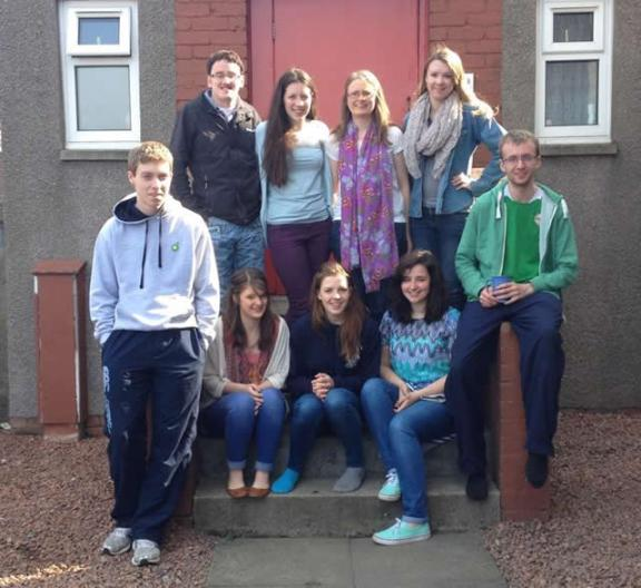 Top left to right: Stephen Steele, Carla Steele, Ruth Coulter, Paige Kelly. Bottom left to right: Stuart Fallows, Sarah Coulter, Rachel Nelson, Eleanor McCollum, Jonny McCollum