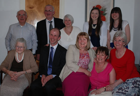 Some of those who attended the surprise gathering – obviously looking at the wrong camera!