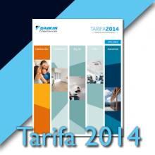 Tarifa Daikin 2014 aire acondicionado