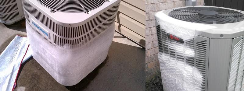 Unidades exteriores de aire acondicionado se congelan posiblemente por falta de gas