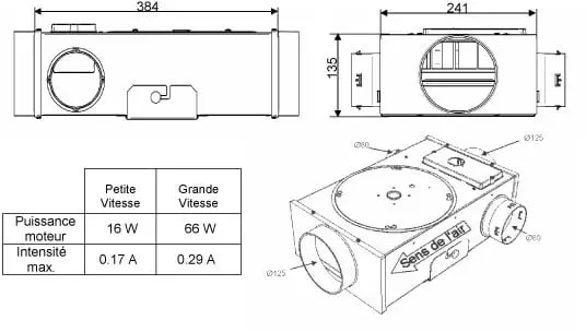 Caisson Vmc Extra Plat Mini Airvent 2 De Atlantic Ventilation