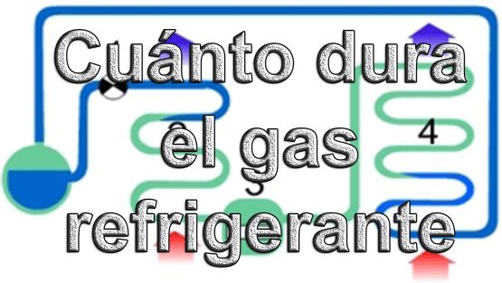 Cuánto dura el gas refrigerante