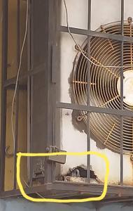 Perdida de aire por orificios en condensador