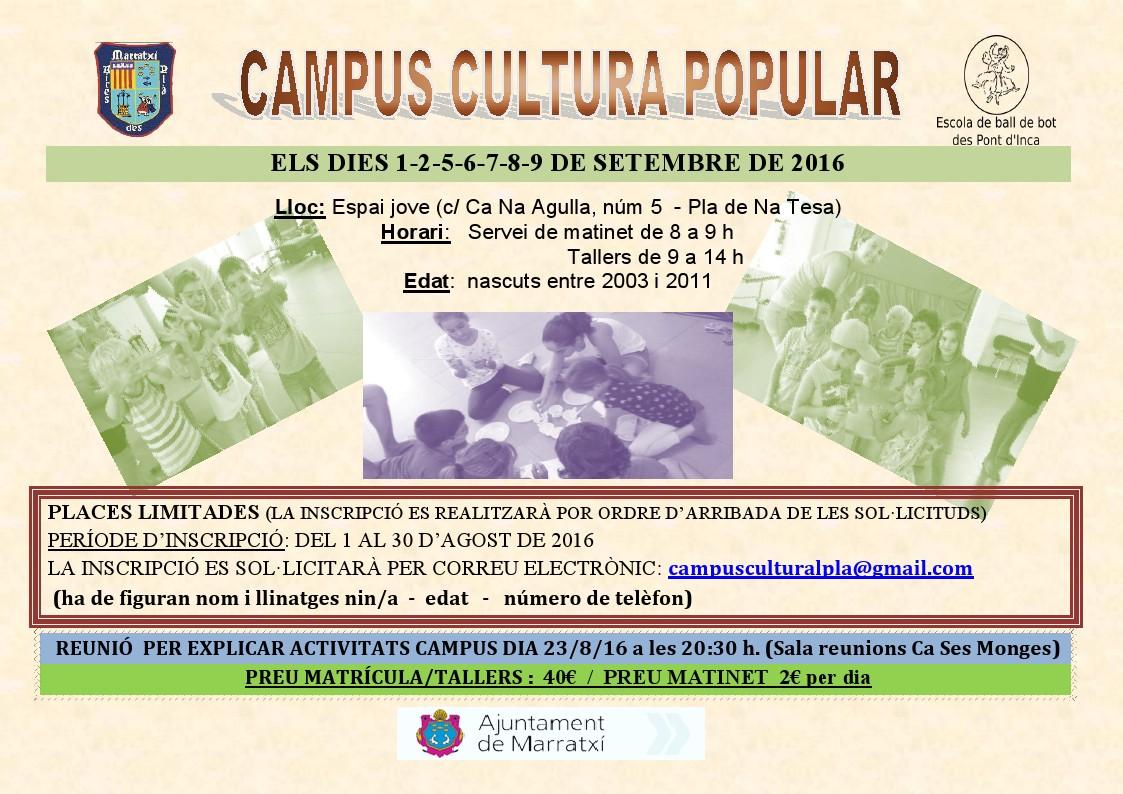 Campus Cultura Popular – Setembre 2016