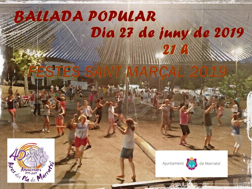 Ballada popular Festes Sant Marçal 2019
