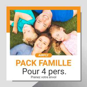 Billet cadeau soufflerie Airfly pack Famille