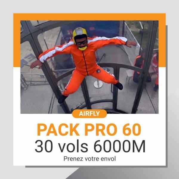Billet cadeau soufflerie Airfly pack PRO 60