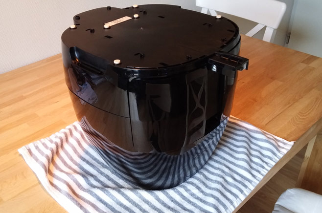 philips-airfryer-xl-upside-down-table-towel