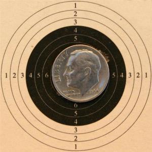 TechForce 97 5 Shot, Open sights, 10 yards
