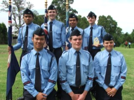 Cadets in AAL Flag Party