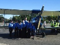 AAL Cadets check out an aircraft from a previous era