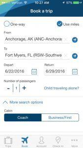 Alaska Airlines mobile