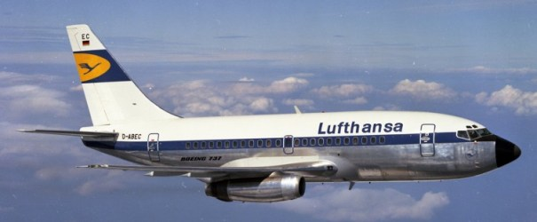 Lufthansa Boeing 737-100 D-ABEC was the 4th 737 off the line and one of the 6 originally involved in the test program. Long since scrapped in 1995 at Marana, AZ, it was last registered to Ansett New Zealand. This 737 was also owned by America West AIrlines. Image Courtesy: Boeing