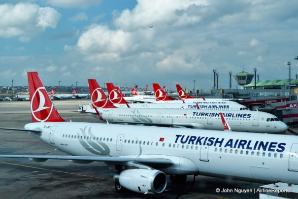 Istanbul-Ataturk Airport is Turkish Airlines' home base.
